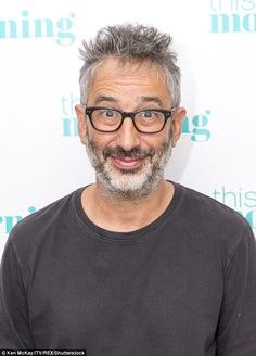 Ladies man:David Baddiel, 52, has claimed that he nearly enjoyed a threesome with Mel B and Mel C in the nineties after charming them into bed with his fame