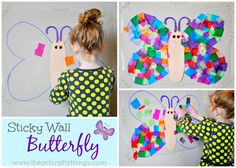 I HEART CRAFTY THINGS: Contact Paper Butterfly Craft