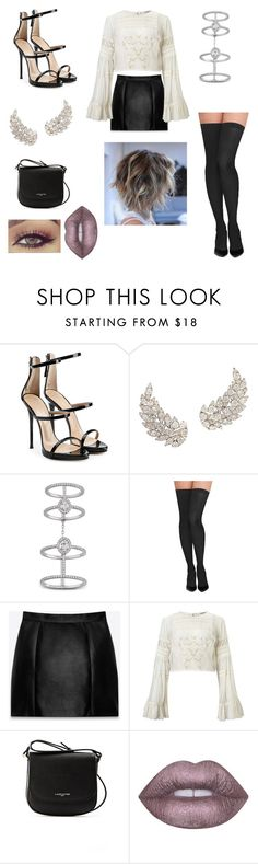 """""""Untitled #112"""" by heresnana on Polyvore featuring Giuseppe Zanotti, Messika, Commando, Yves Saint Laurent, Miss Selfridge, Lancaster and Lime Crime"""