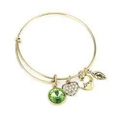 August Birthstone Charm Bangle – Florence Scovel