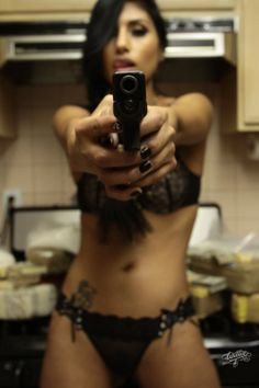 Women and guns Scissors or a Gun When She Is Home Alone Guys?