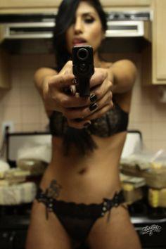 Women and guns Scissors or a Gun When She Is Home Alone Guys?