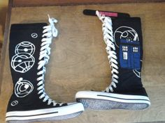Hey, I found this really awesome Etsy listing at https://www.etsy.com/listing/161549409/doctor-who-high-top-canvas-shoes-made-to