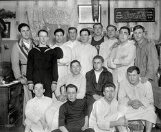 Shorpy Historic Picture Archive :: Bedtime Bros: 1910s From the early 1900s comes this nightshirted posse of college men, possibly in Wyoming. Three cheers for old Pimento U! high-resolution photo
