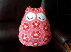 부엉이 쿠션 #Maggie_the_Owl_Pillow #crochet #부엉이 #쿠션 #cushion