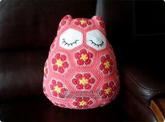 부엉이 쿠션 #Maggie_the_Owl_Pillow #crochet #부엉이 #쿠션 #cushion