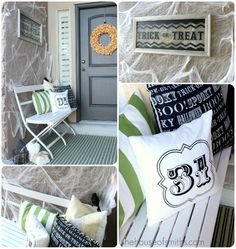 Modern Halloween Porch decor halloween halloween decorations halloween ideas halloween porches halloween porch halloween reef