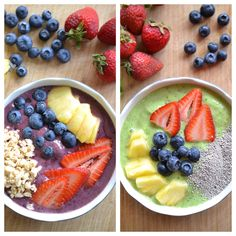 Frozen smoothie bowls make a tasty, chilly treat while you watch 'Frozen Planet' on Netflix #StreamTeam