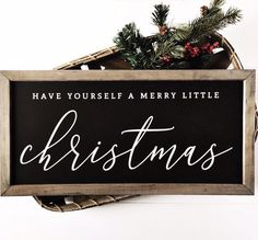 Have Yourself a Merry Little Christmas Merry Christmas Sign Wood Christmas Signs Farmhouse Holiday Wall Decor DIY Wood Signs Christmas Decor Farmhouse Holiday Merry Sign Signs Wall Wood Merry Christmas Sign, Christmas Signs Wood, Holiday Signs, Merry Little Christmas, Christmas Time, Christmas Decorations, White Christmas, Christmas Chalkboard, Christmas Things