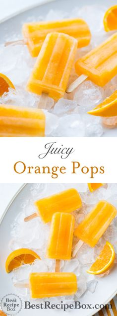 Orange Popsicles Recipe Juicy and Refreshing Ice Cream Healthy Fruits, Healthy Eating Recipes, Healthy Snacks, Healthy Juices, Orange Recipes For Babies, Orange Popsicles, Ice Popsicles, Best Recipe Box, Easy Sweets