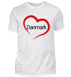 Dänemark Herz Liebe Geschenk T-Shirt