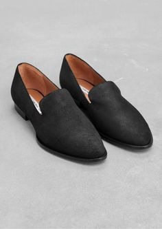 & Other Stories | Waxed Leather Loafers