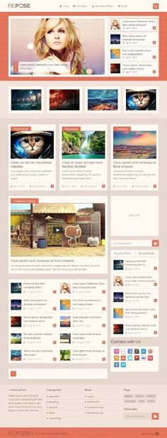 Repose is a smooth, multi-format WordPress theme which is best for blogs, businesses, news portals and shops. With a fully customizable color scheme, Repose is WooCommerce ready and loaded with video post format to help you build your site quickly and easily.