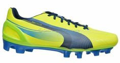 New PUMA evoSPEED 3.2 FG Womens Soccer Cleats - Yellow Blue Green