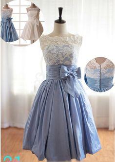 Short Prom Dresses,Vintage Dress,Lace Prom Dresses,Bridesmaid Dress A