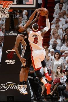 Kawhi Leonard blocking LeBron James in gm.4 of the 2014 NBA Finals #Spurs #Heat