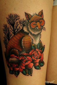 Foxy. Karolina Bebop - Bebop Tattoo- Bogota, Columbia