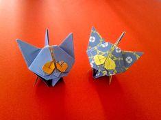 Beautiful origami kitten and origami cat tutorial