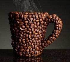 Coffee Bean Mug. Looking at the coffee beans, you'll be perked up before you even start sipping. (Image Source: RC Taylor)