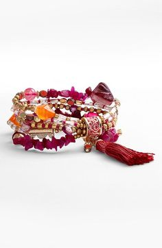 Sara Bella Bead Stretch Bracelet | Nordstrom Perhaps knotted.
