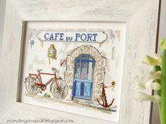 Cafe du port-beautiful needle work