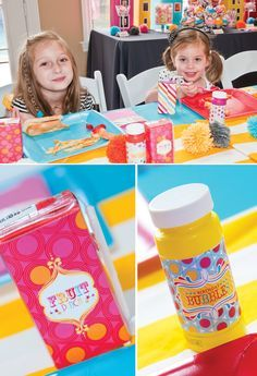 Personalized Juice Boxes and Bubbles