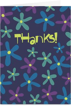 Flower Thanks Thank You Card