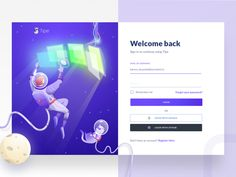 Tipe Login designed by Zazuly Aziz for Brightscout. Connect with them on Dribbble; Login Design, Web Design, Form Design, Graphic Design, Design Agency, Branding Design, Web Forms, Game App, Flat Illustration