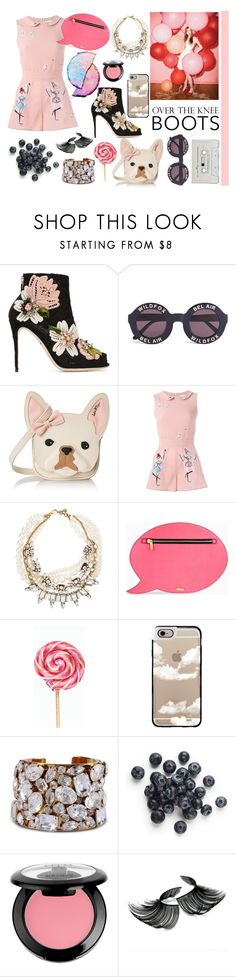 """""""#Pink"""" by erica-sg ❤ liked on Polyvore featuring Dolce&Gabbana, Wildfox, Betsey Johnson, RED Valentino, Lulu Frost, Skinnydip, Casetify, STELLA McCARTNEY, NYX and pinkfashion"""