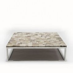 JAVA NATURAL Coffee table, top in natural petrified wood on stainless steel base #Cravt #Original #Craftsmanship #Living #Furniture #Luxury #Interior #Coffee #Tables #Petrified #Wood