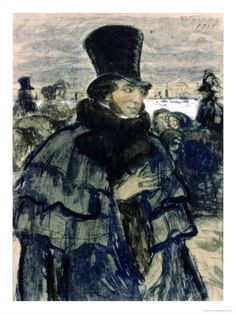 Portrait of Alexander Pushkin Giclee Print by B. M. Kustodiev at Art.com. Russia. Поэт Александр Пушкин.
