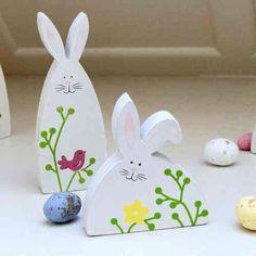 déco de Pâques avec lapin