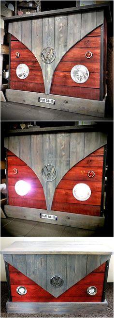pallets wooden bar counter