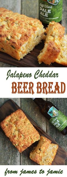 Jalapeno Cheddar Beer Bread – From James to Jamie Beer Recipes, Snack Recipes, Cooking Recipes, Snacks, Bacon Recipes, Fresh Jalapeno Recipes, Pepperoni Recipes, Healthy Recipes, Jalapeno Bread