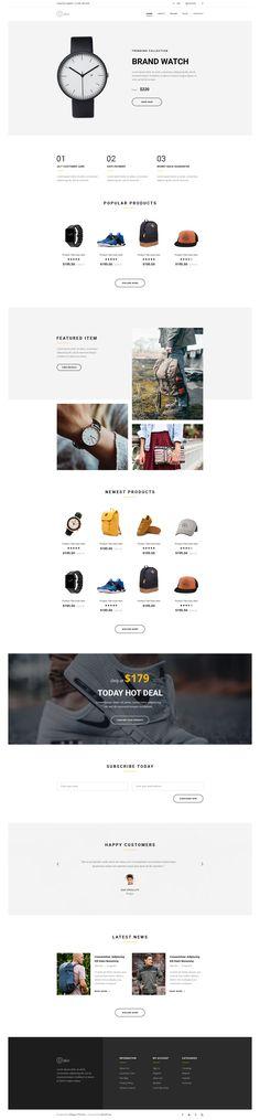 Online store landing
