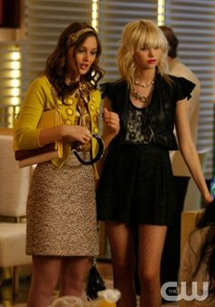 """""""The Goodbye Gossip Girl""""  Pictured: Leighton Meester as Blair, Taylor Momsen as Jenny"""