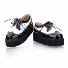 HOT Women'S Lace UP Punk Goth High Platform Flat Creeper Shoes | eBay