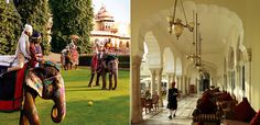 India.....service beyond compare....pretty much anywhere you stay, but Rambagh Palace, Jaipur...wow!