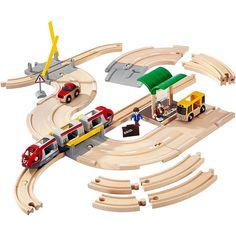 Circuito de madera Tren Carretera Parada - BRIO