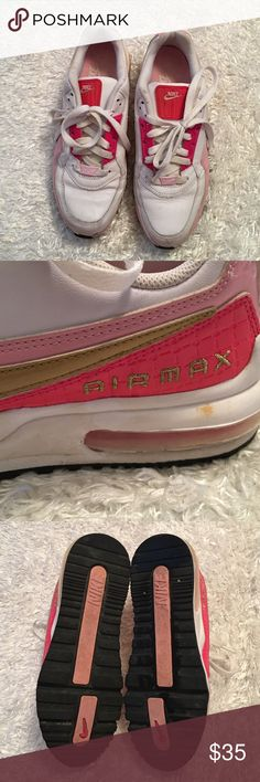 Nike Air Max VGUC Nike Air Max Strawberry Shortcake in a fun color mix of pink and gold Nike Shoes Athletic Shoes