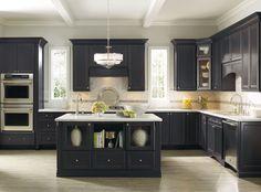 Houzz Dark Gray Kitchen Cabinets