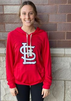 St Louis Cardinals Womens Red Pre Game Hood Hooded Sweatshirt - 9431260 Stl Cardinals, St Louis Cardinals, Great Books, Lady In Red, Hooded Sweatshirts, Hoods, Graphic Sweatshirt, Game, Long Sleeve