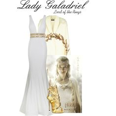 Lady Galadriel by justfandoms on Polyvore featuring Jovani and Giuseppe Zanotti
