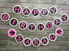 PERSONALIZED Barbie Birthday Party Banner. by Sunshineatheart on Etsy https://www.etsy.com/listing/158274218/personalized-barbie-birthday-party
