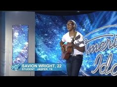 Savion Wright - Audition - American Idol 2015 i love his voice