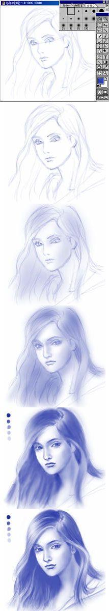 2001 illustration tutorial by Naoko Aoyama