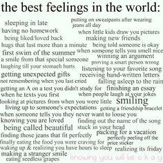 The best feelings.