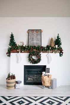 Here's a fireplace mantel makeover completed just in time for gorgeous Christmas decorations.