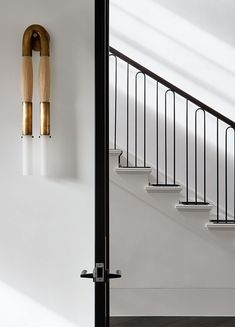With a nod to its adorned past, Toorak Residence by Hecker Guthrie pays respect to the home's original Art Deco features through a refined lens. Metal Railings, Staircase Railings, Stairways, Staircase Ideas, Banisters, Steel Railing, Interior Stairs, Best Interior, Interior And Exterior