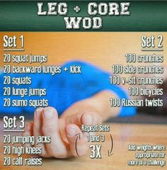 Leg and Core Workout